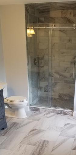 custom shower and tile