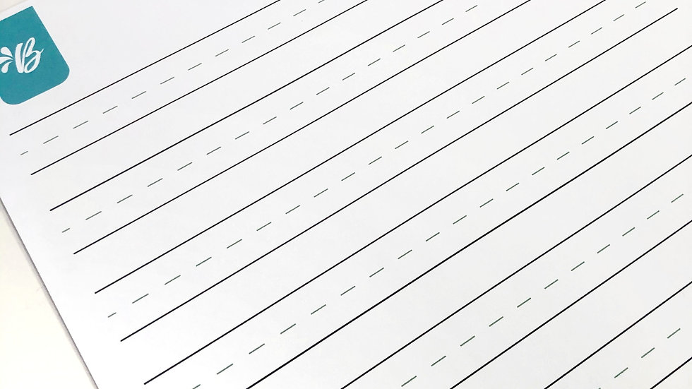 Blank practice sheet - Small Pen