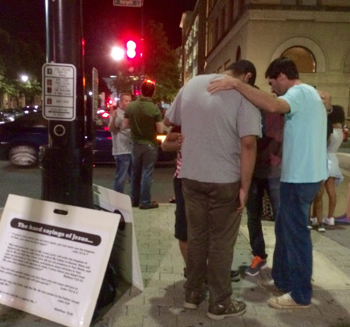 Friday Night Downtown Praying
