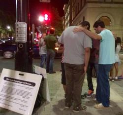 Friday Night Downtown Praying