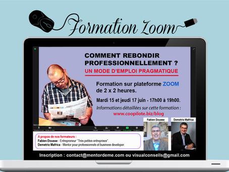 Formation Zoom : Comment Rebondir professionnellement ?