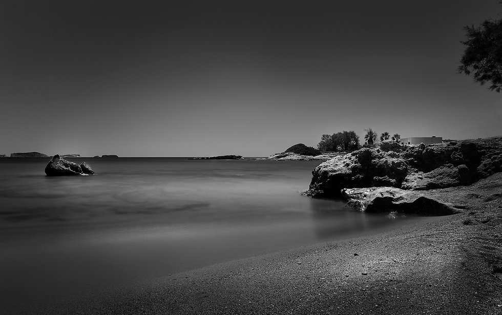 long exposure in kimolos, beach