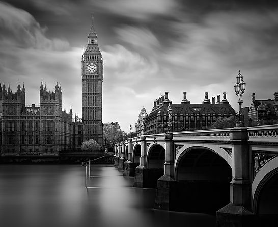 the big ben in London,long exposure