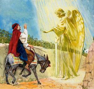 ANGEL, talking donkey and Balaam