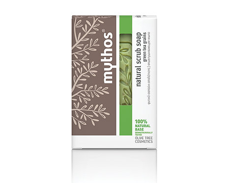 Natural Scrub Soap with Green Tea Grains 100g
