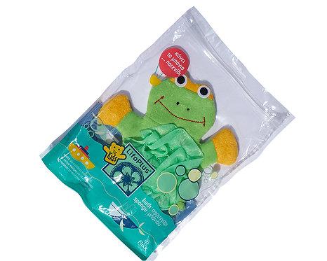 Baby Cotton Sponge Green Frog