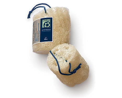 Raw Loofah 15cm with rope