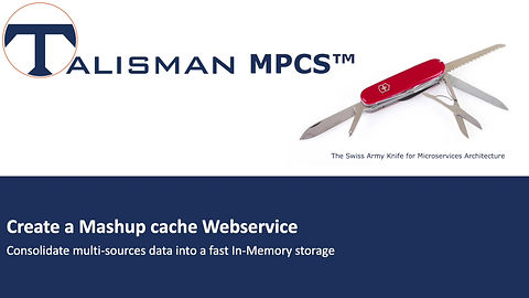 Demostration on how to create a Mashup cache Webservice with Talisman MPCS™.