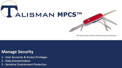 Demonstration on how to manage security within Talisman MPCS™.