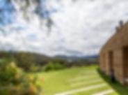 Tarrawarra Estate view from courtyard