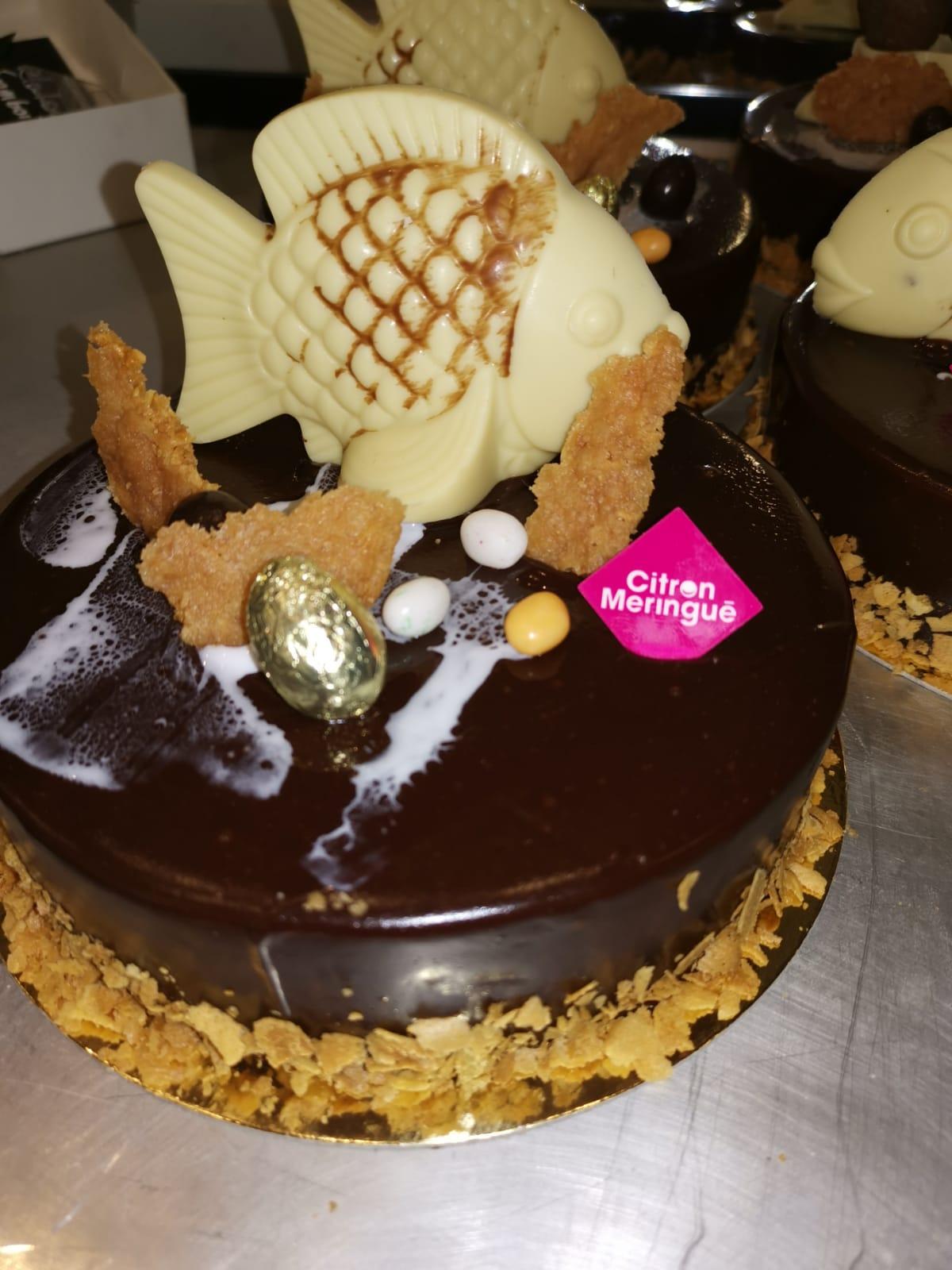Gâteau anniversaire Délice Chocolat Citron Meringué France