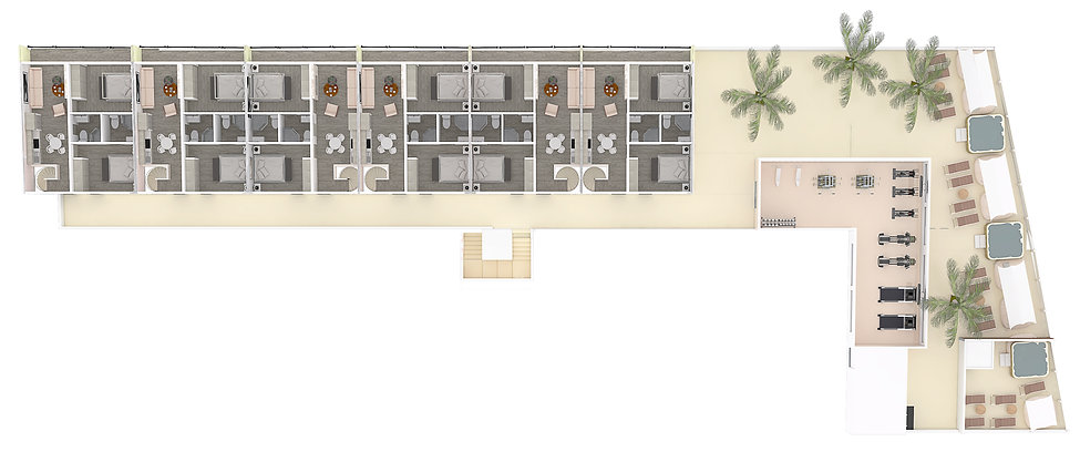 005 h20 maqueta nivel roofgarden y gym (