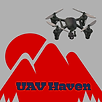 UAV flying away from a mountain