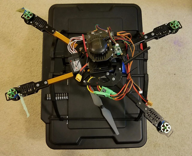 Do it yourself drone on a box wihout props