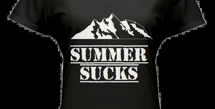 Women's Cut Summer Sucks T-Shirt