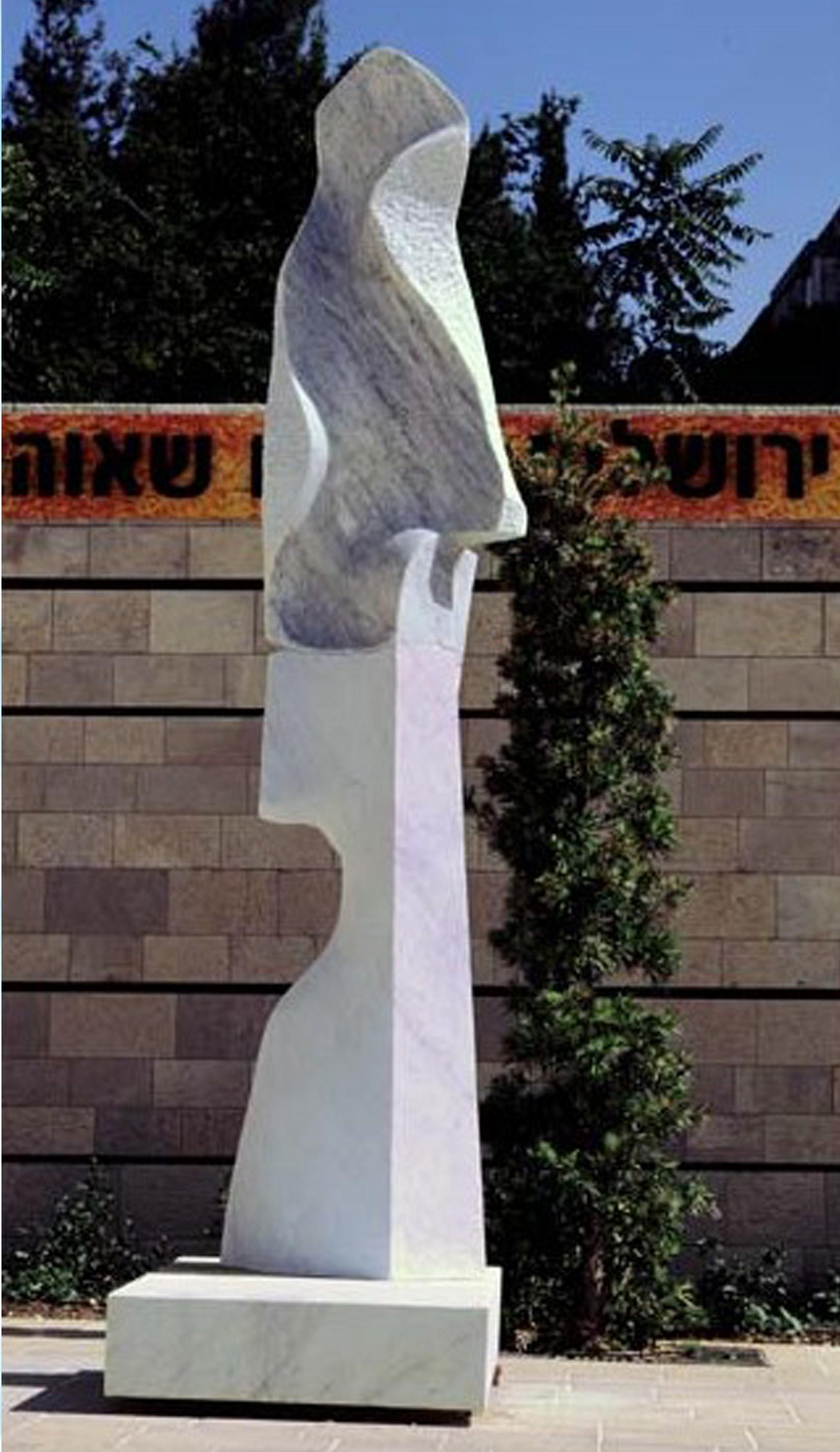 White Crarrara marble H. 350 cm Pardes Hanna ' israel