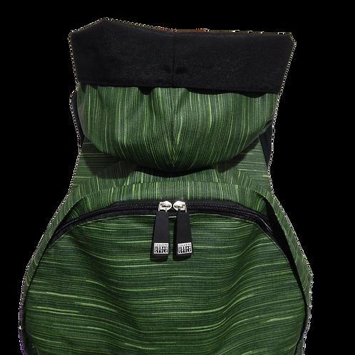 Mochila com capuz - waterblock - rajada verde