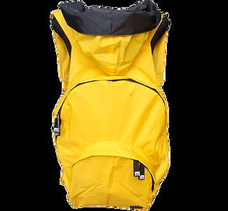Mochila amarela - capuz interno cinza escuro