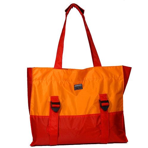 Bolsa vermelho e laranja