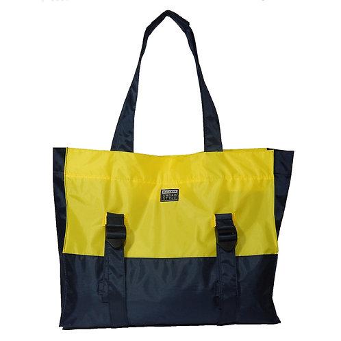 Bolsa marinho e amarelo