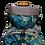 Thumbnail: Mochila com capuz - waterblock - floral azul