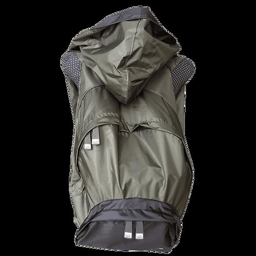 Mochila verde militar - capuz interno e bolso externo preto