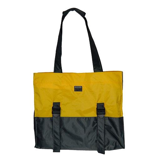 Bolsa amarelo e cinza