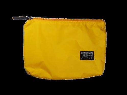 Nécessaire nylon amarelo - zíper amarelo