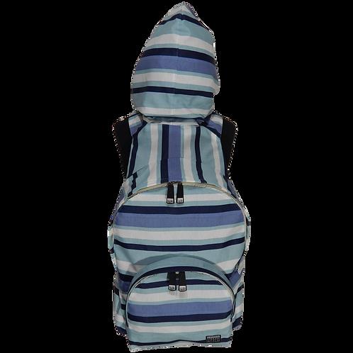 Mochila com capuz - waterblock - listras azul