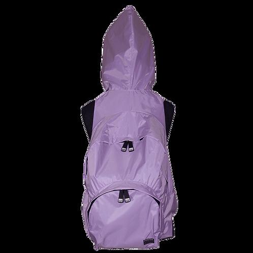 Mochila com capuz - lilás - capuz interno roxo