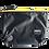 Thumbnail: Mochila com capuz - cinza escuro - capuz interno amarelo