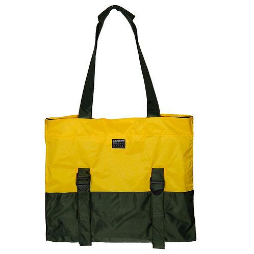 Bolsa verde militar e amarelo