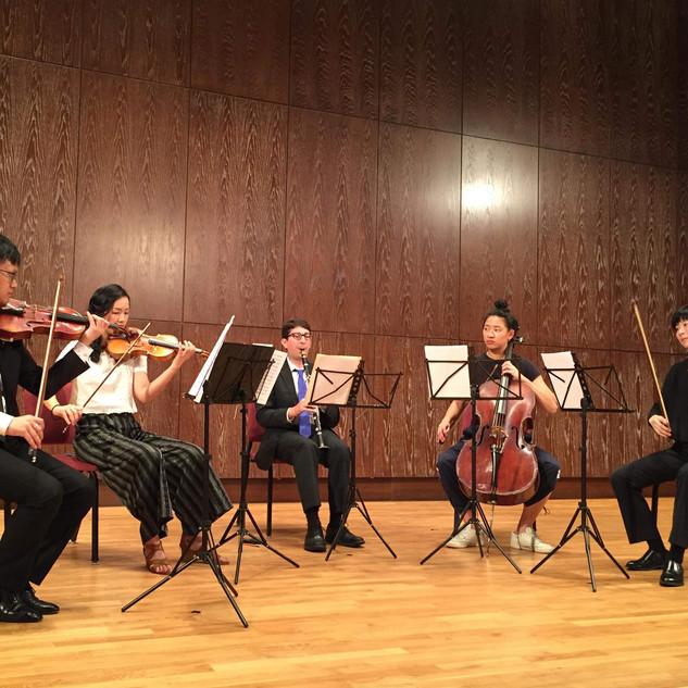 Mozart Quintet dress rehearsal, August 2019