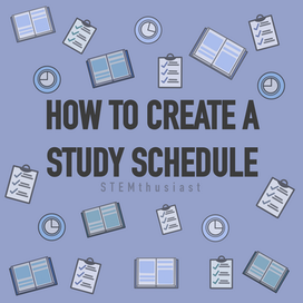How to create a study schedule