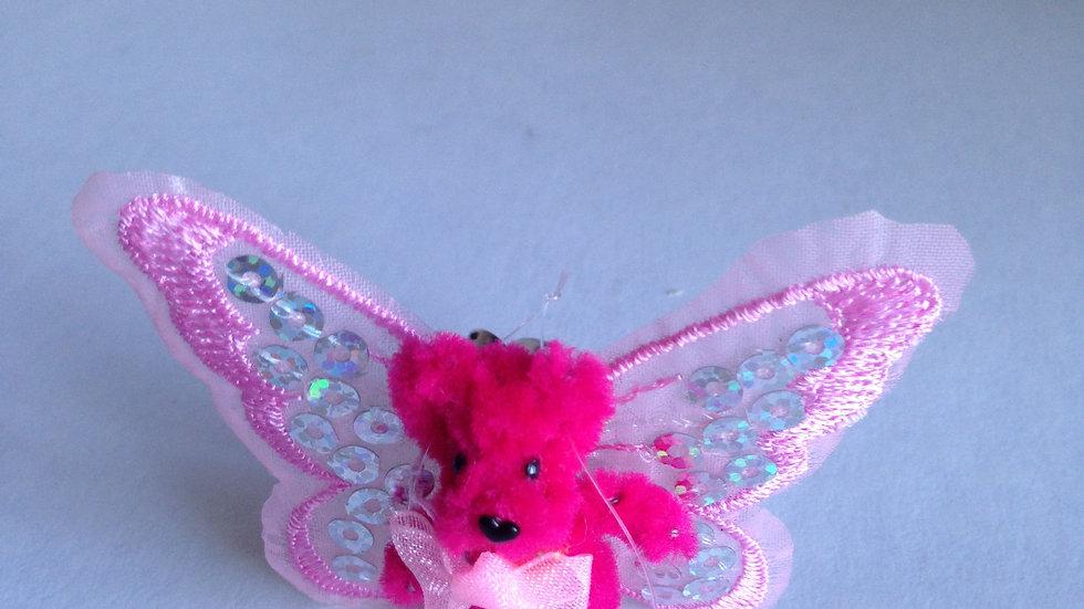 Handmade teddy with wings.