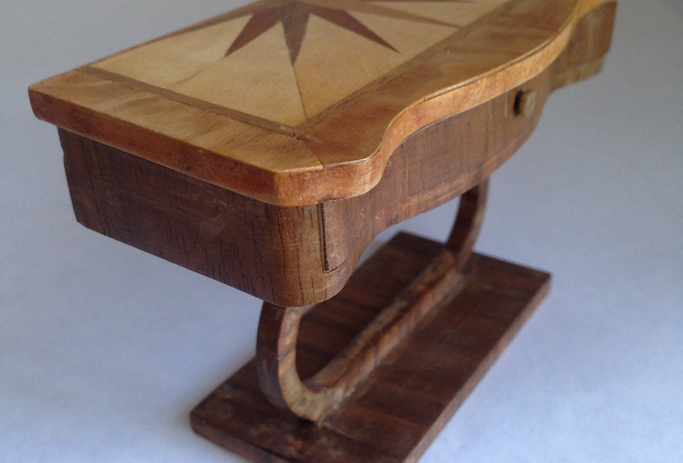 Inlaid Sunray Side Table