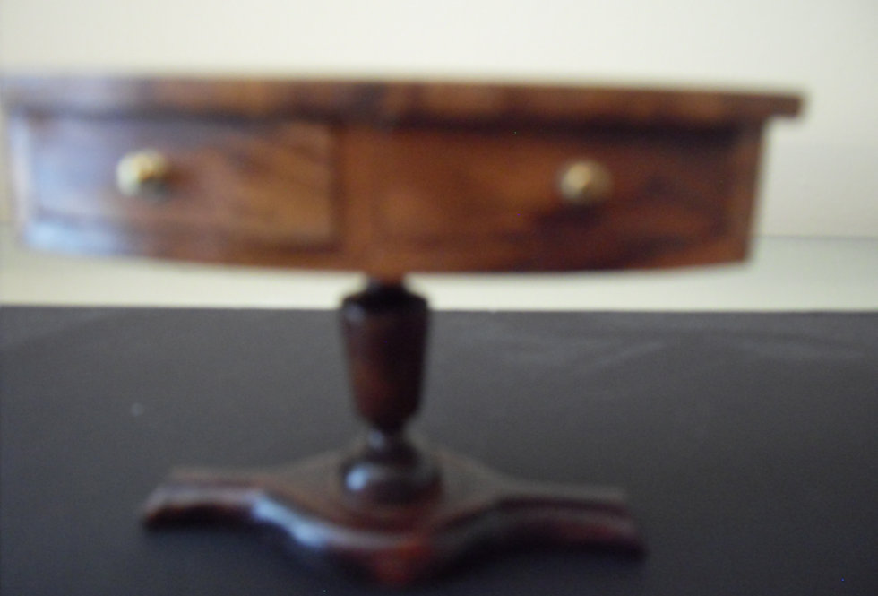 Inlaid Pedestal Console Table (small Starburst)