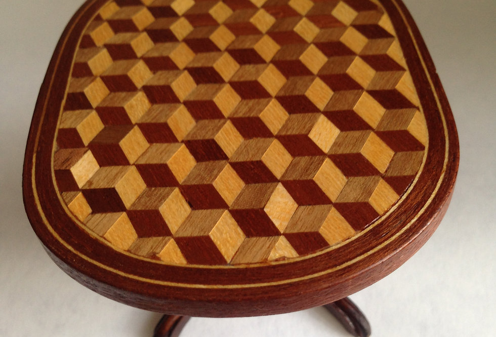 Oval Marquetry Table