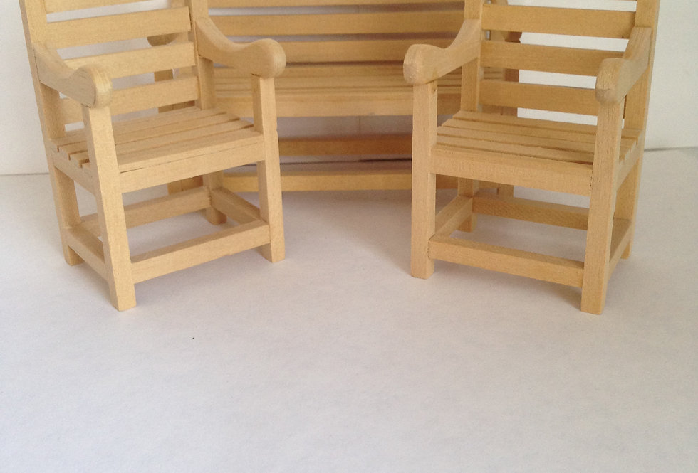 Whitewood Garden Bench and Chairs