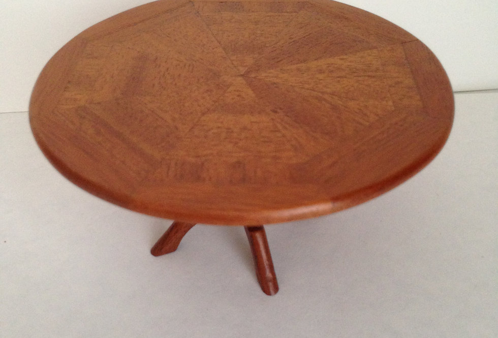 Round Wooden Inlaid Table