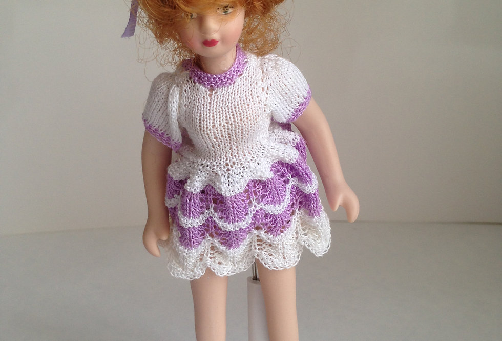 Doll - White / Purple Outfit