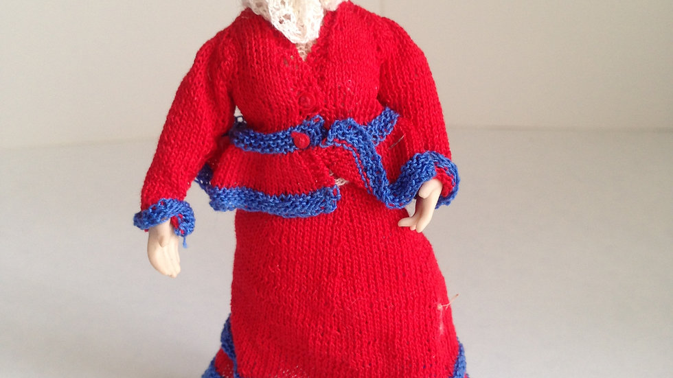 Hand dressed 1/12th scale dolls house doll