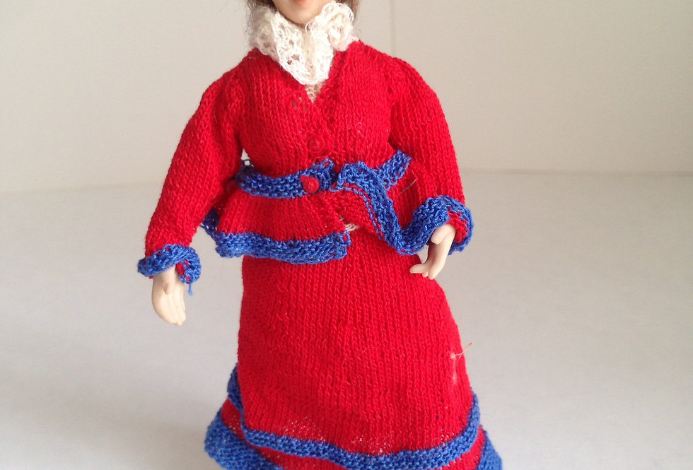 Doll - Red / Navy Outfit