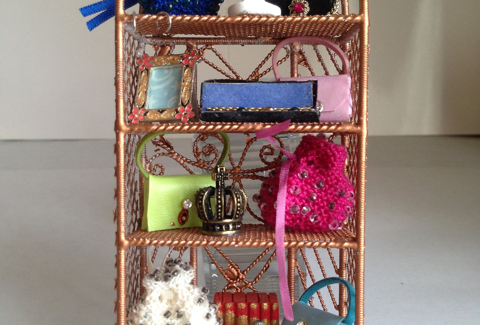 Display Stand w/Handmade Handbags & Jewellery