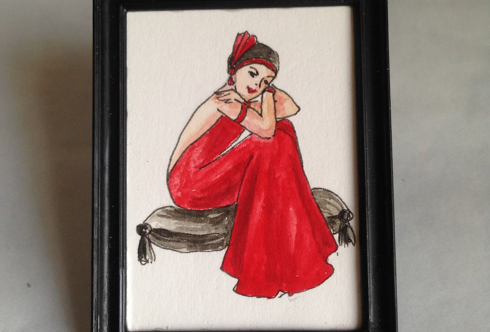 Lady in Red Miniature (Art Deco)