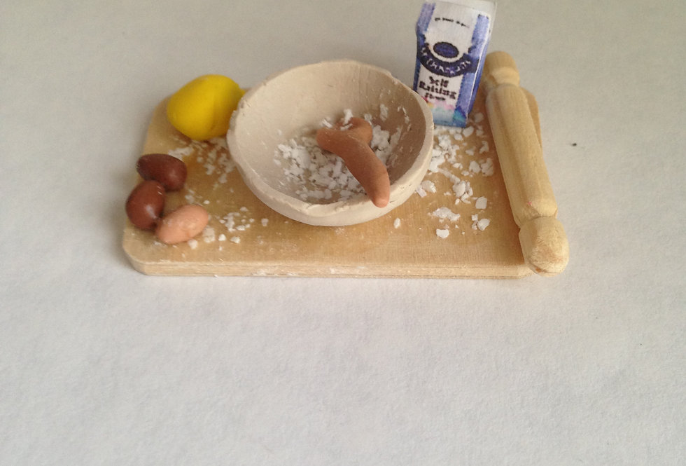 Mixing Bowl and Board