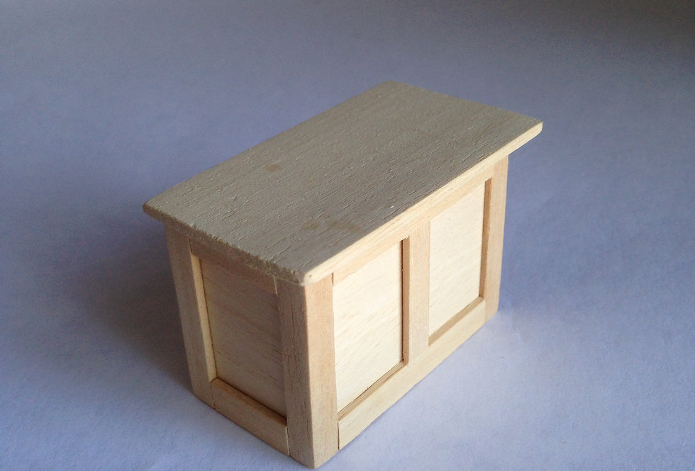 Small Whitewood Counter