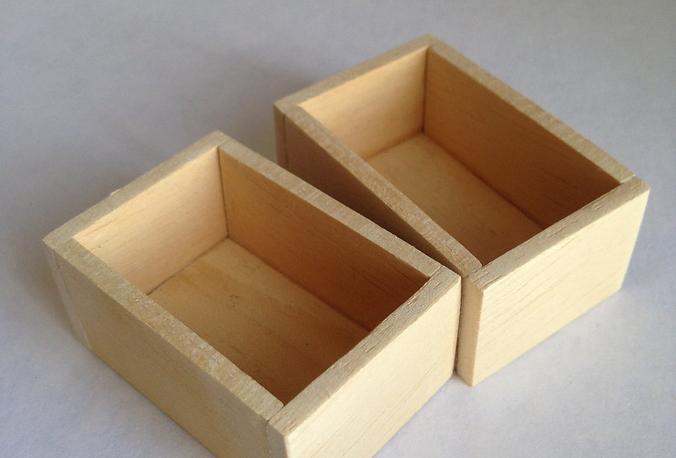 Pair of Wooden Vegetable Boxes
