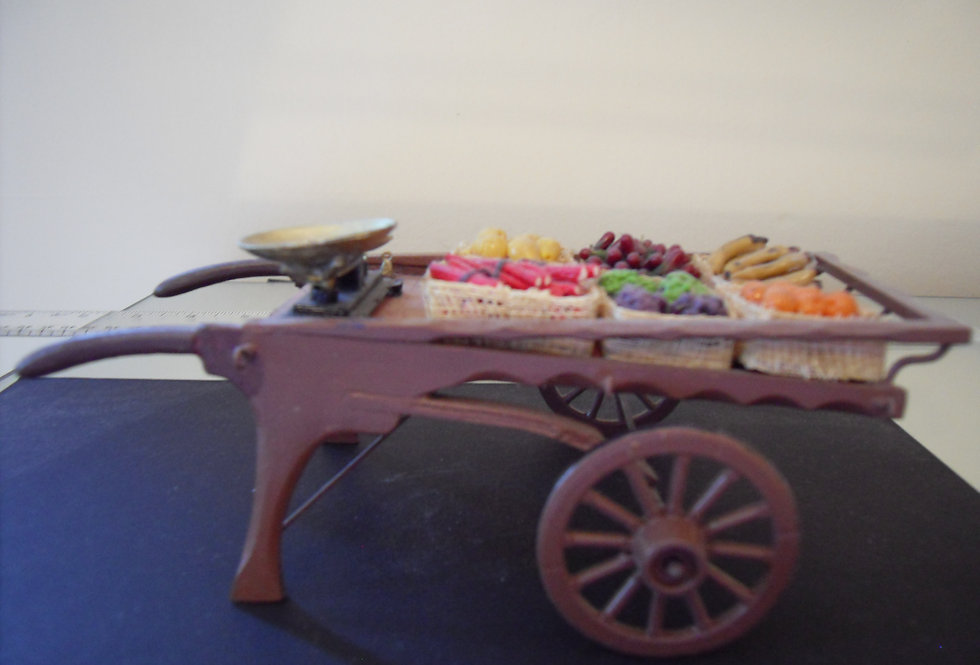 Coster Cart w/Fruit and Veg