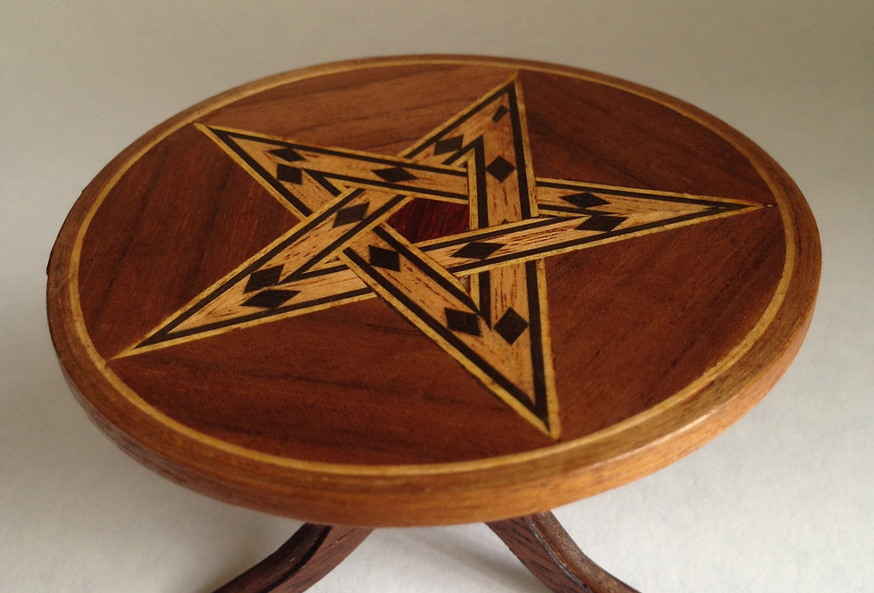 Round Inlaid Table (Inlaid Star Design)